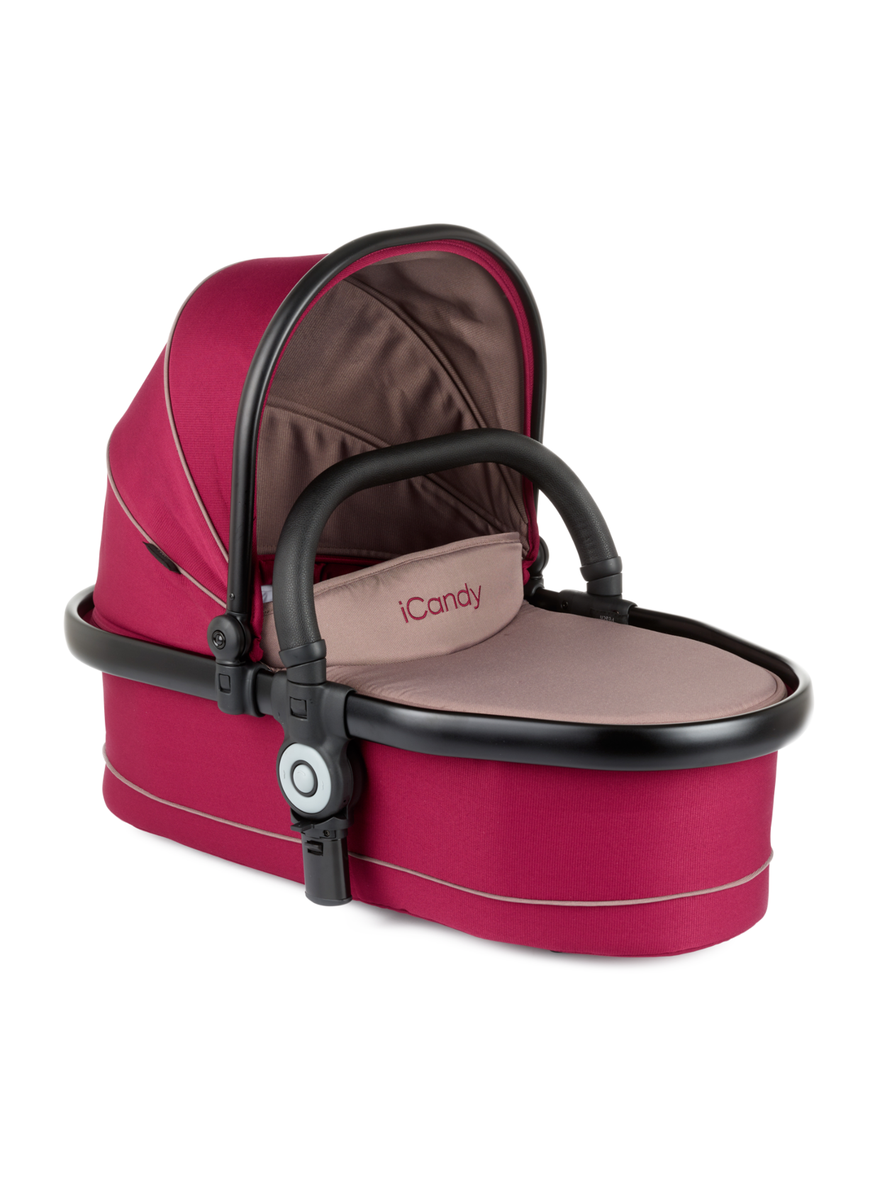Peach Twin Carrycot Claret