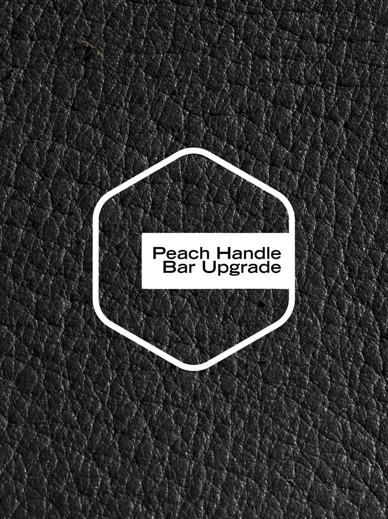 Peach Leatherette Upgrade - Chrome/Tan