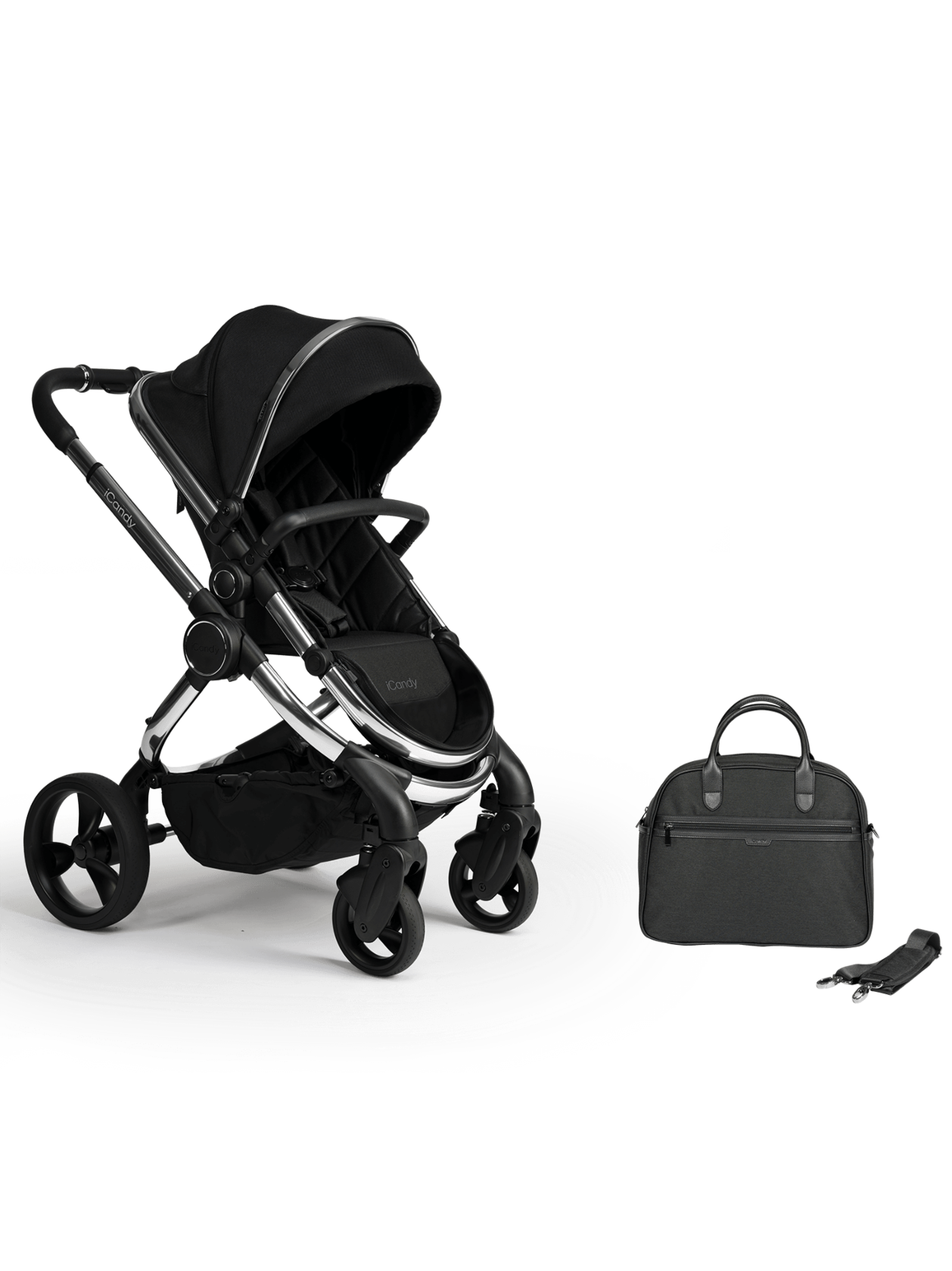 Peach Pushchair and Carrycot With Bag