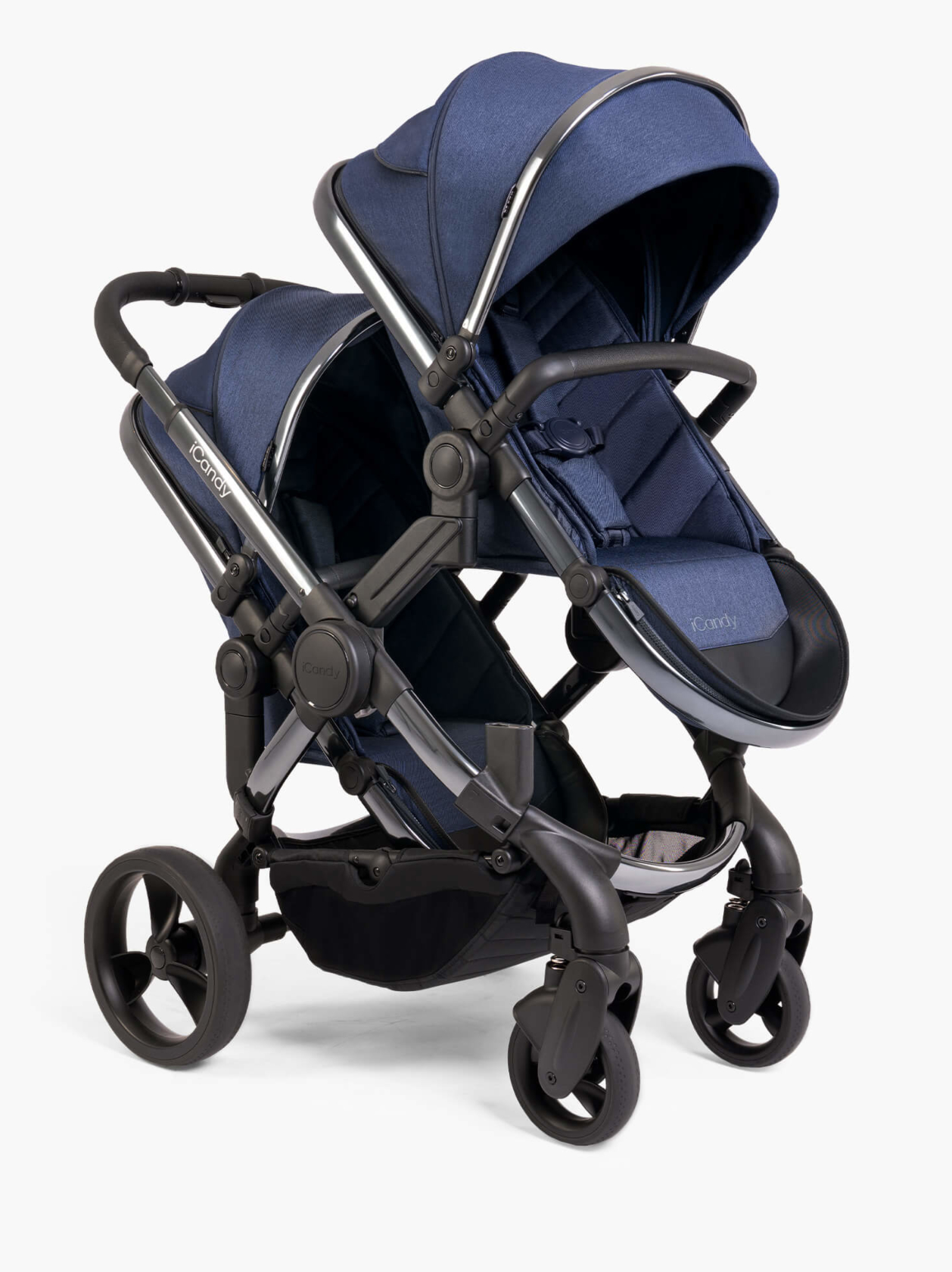 Peach Pushchair and Carrycot - Double